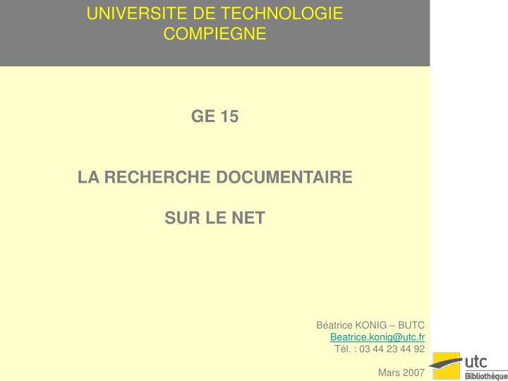 universite de technologie compiegne n.