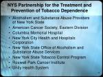 nys partnership for the treatment and prevention of tobacco dependence