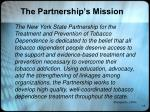 the partnership s mission