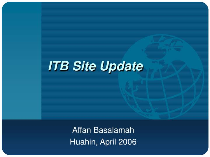 itb site update n.