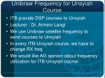 unibraw frequency for unsyiah course