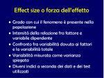 effect size o forza dell effetto