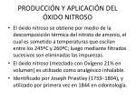 producci n y aplicaci n del xido nitroso