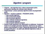 algoritmi i programi