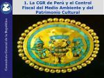 1 l a cgr de per y el control fiscal del medio ambiente y del patrimonio cultural