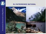 el patrimonio natural