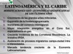 latinoam rica y el caribe