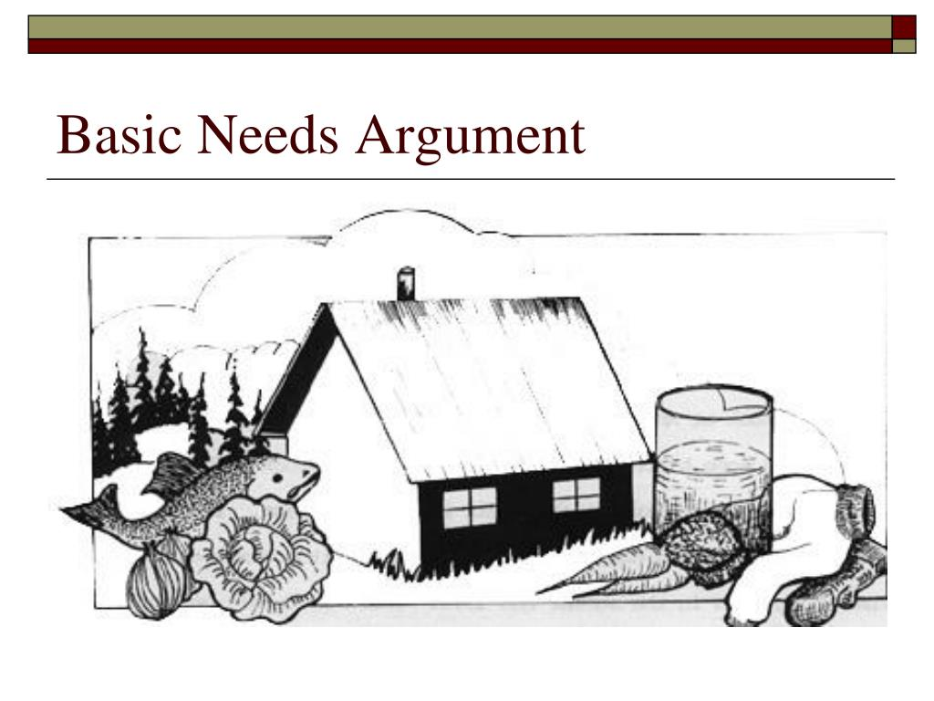 Basic Needs Argument