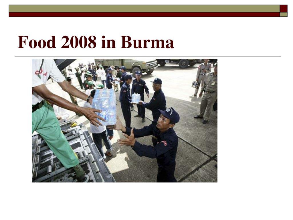 Food 2008 in Burma
