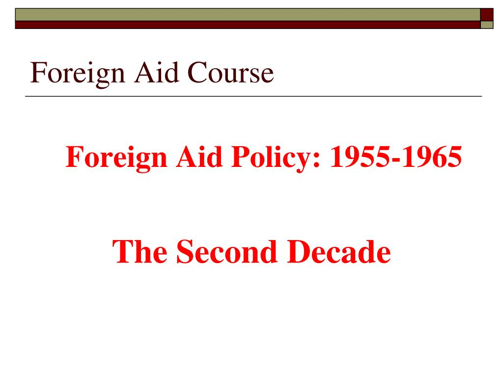 Foreign Aid Course