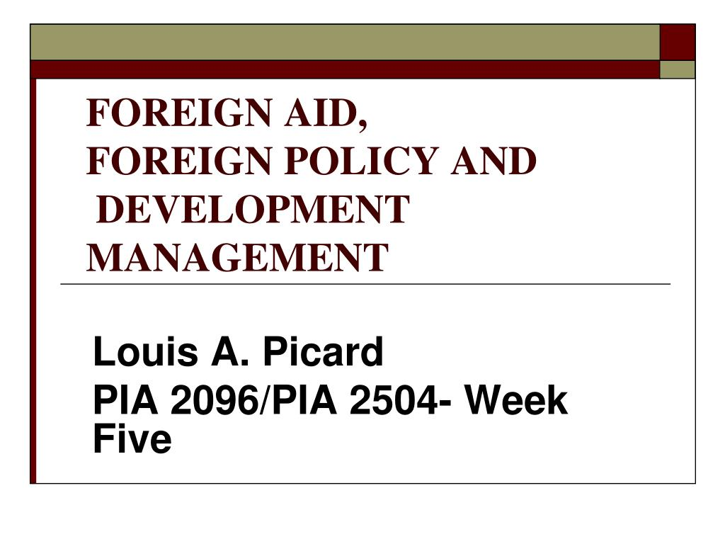 FOREIGN AID,