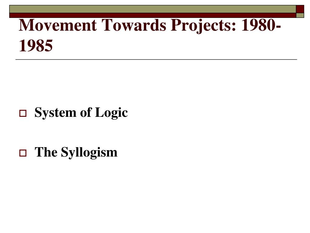 Movement Towards Projects: 1980-1985