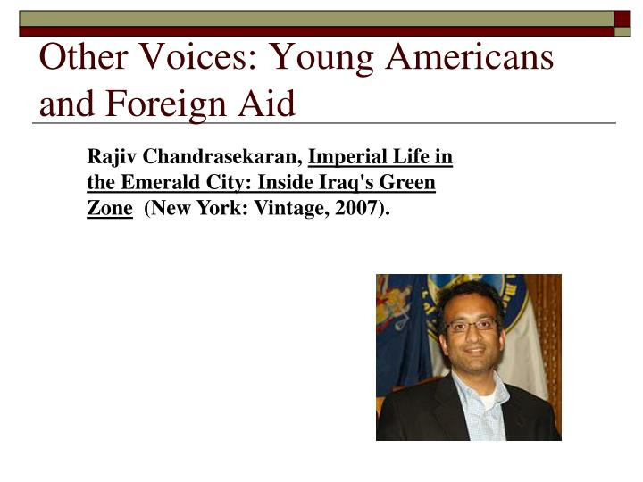 Other voices young americans and foreign aid