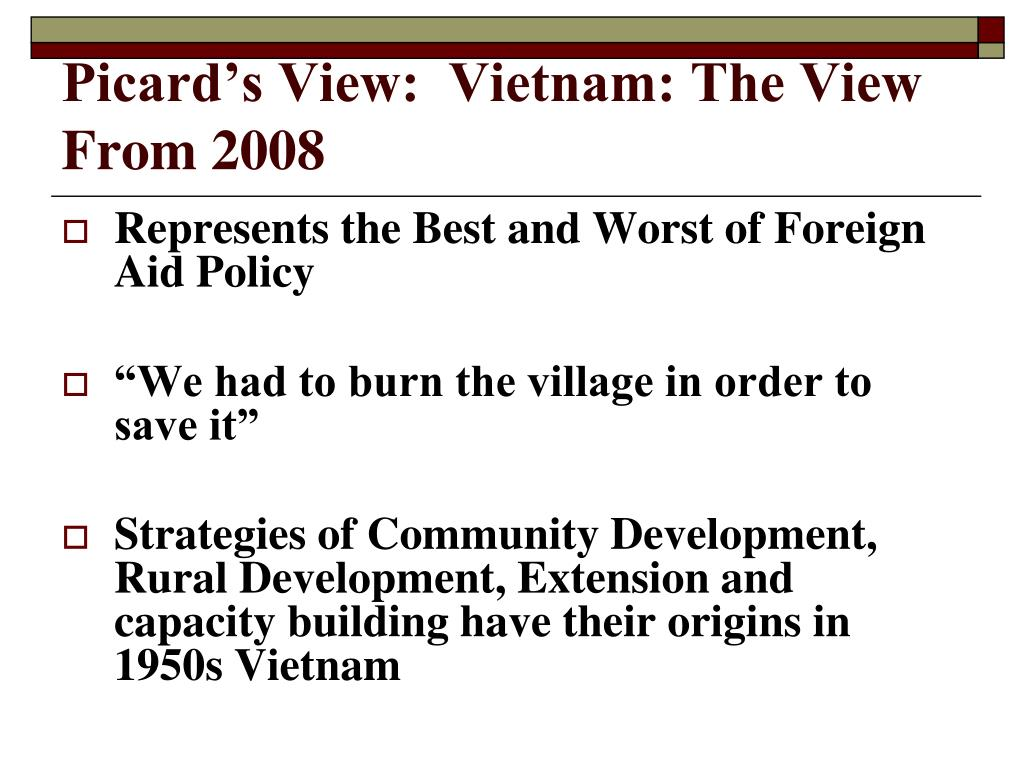 Picard's View:  Vietnam: The View From 2008