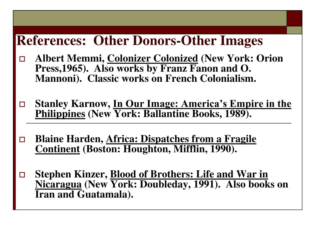 References:  Other Donors-Other Images