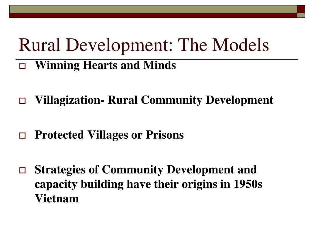 Rural Development: The Models