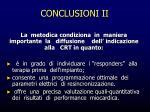 conclusioni ii