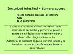 inmunidad intestinal barrera mucosa