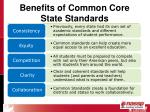 benefits of common core state standards