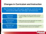 changes in curriculum and instruction