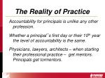 the reality of practice