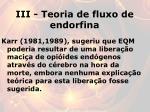 iii teoria de fluxo de endorfina