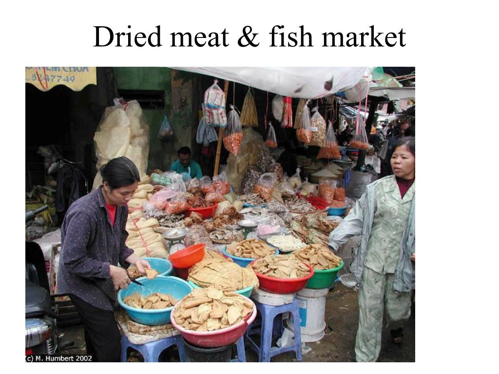 Dried meat & fish market