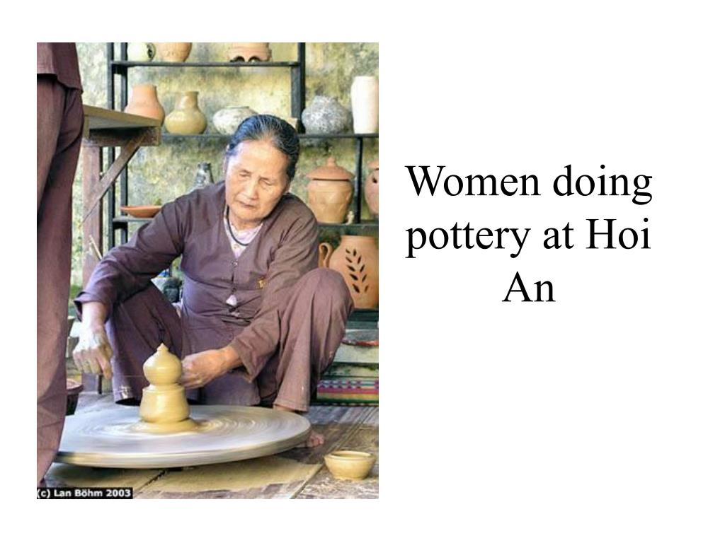 Women doing pottery at Hoi An