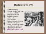 berlinmuren 1961
