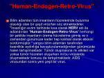 human endogen retro virus