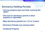 dormancy holding periods