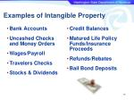 examples of intangible property