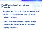fast facts about unclaimed property