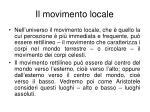 il movimento locale