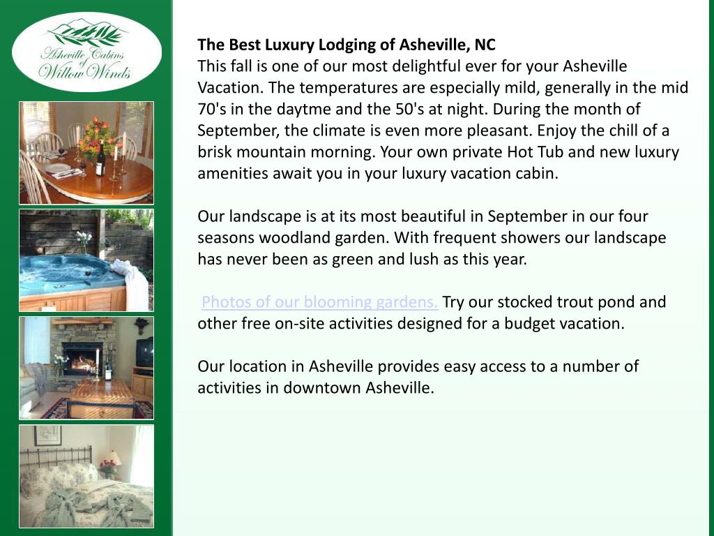 The Best Luxury Lodging of Asheville, NC