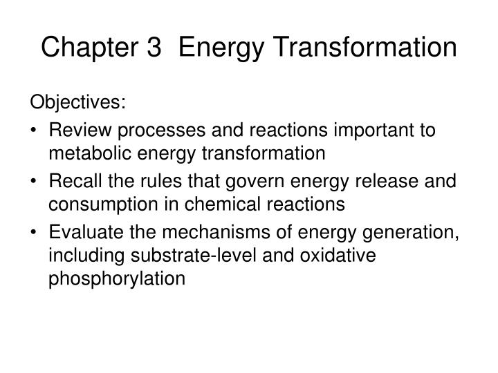 chapter 3 energy transformation n.