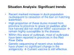 situation analysis significant trends