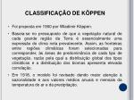 classifica o de k ppen