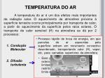 temperatura do ar