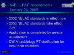 64e 1 fac amendments january 24 2005