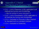 appendix c 3 initial test method evaluation 03