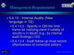 management requirements6