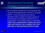 measurement uncertainty estimates 5 5 4 6 cont d