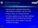 method selection 5 5 4 2 cont d
