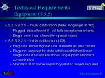 technical requirements equipment 5 5 5