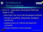 test methods method validation1