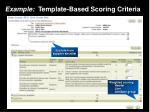 example template based scoring criteria