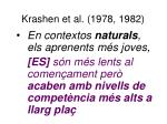 krashen et al 1978 1982