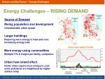 energy challenges rising demand