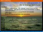 now for some good news air energy solutions
